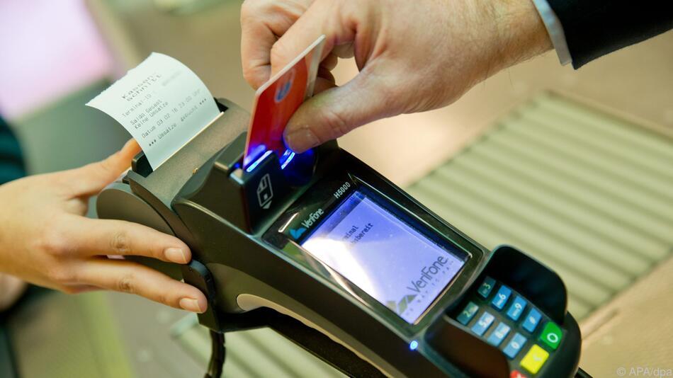 Kartenzahlungen im Aufwind