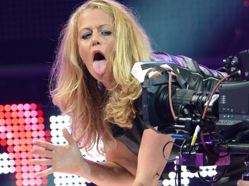 Bild zu Barbara Schöneberger macht die Miley Cyrus