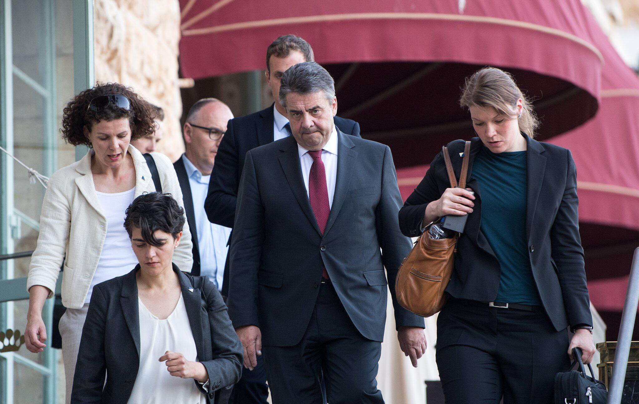 Bild zu German Minister of Foreign Affairs Gabriel in Israel
