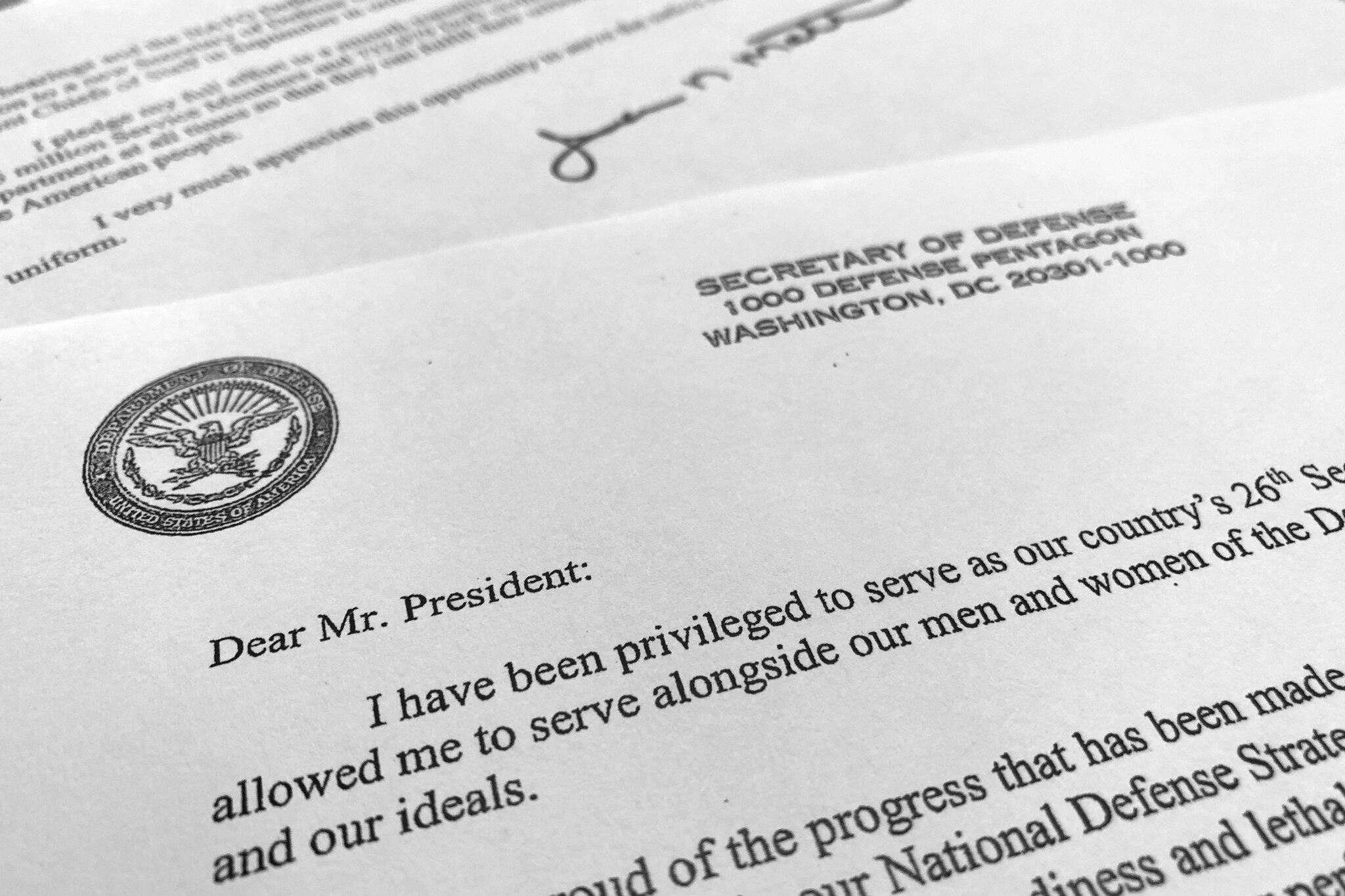 Bild zu James Mattis Rücktrittsschreiben
