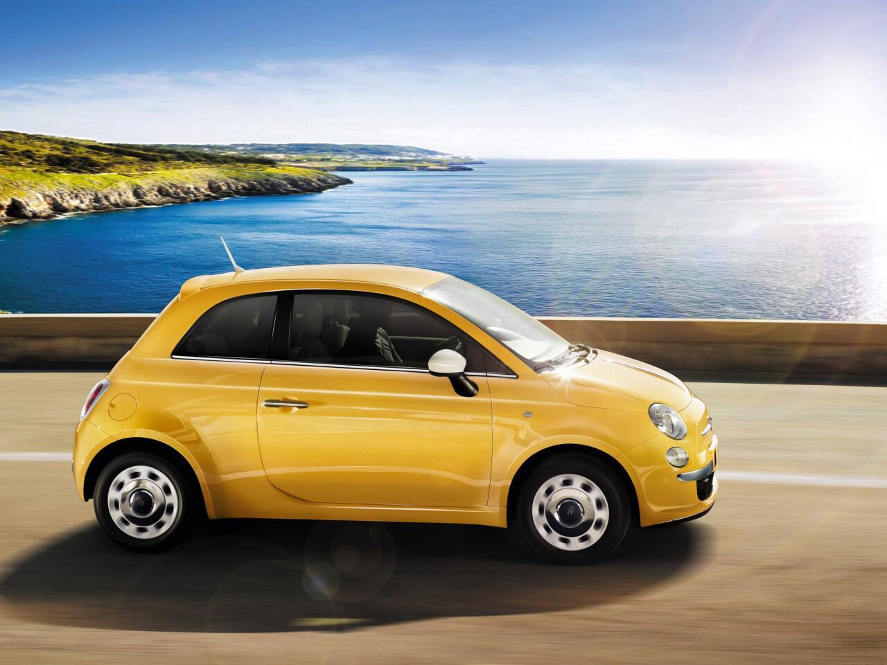 Bild zu Nicht weniger farbenfroh präsentiert sich die Neuauflage des Fiat 500