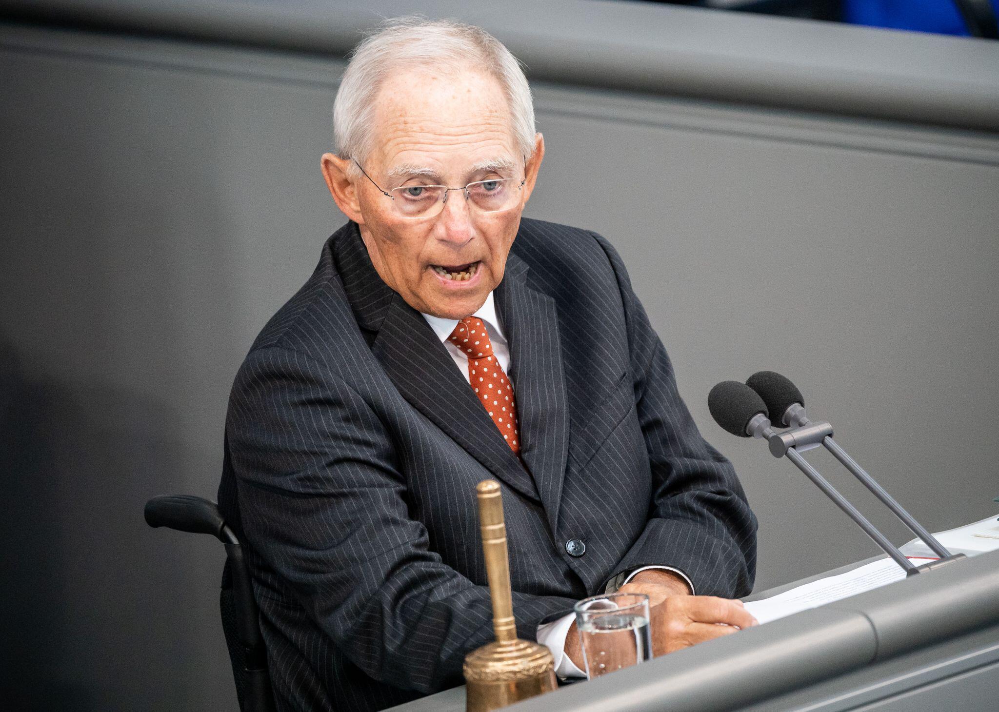 Bild zu Bundestagspräsident Wolfgang Schäuble