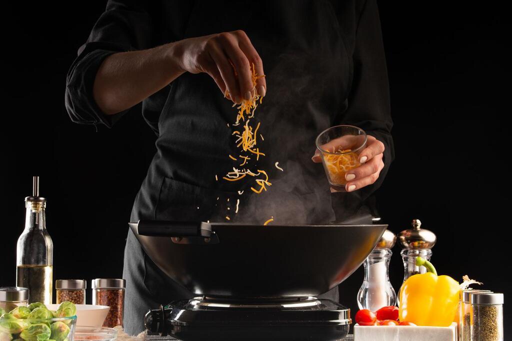 Bratpfanne, Wok, Rezept, Gericht, Gerät, Kochen, Schmoren, Frittieren