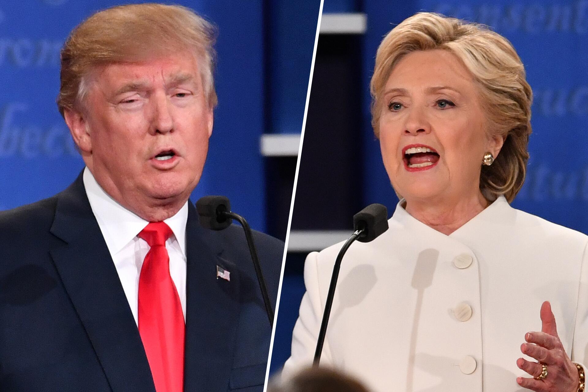 Bild zu Donald Trump, Hillary Clinton, TV-Duell