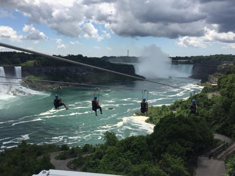 Bild zu Seilrutschen bei den Niagarafällen