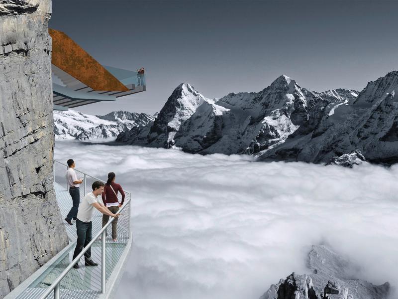 Bild zu Neuer Skywalk im Berner Oberland