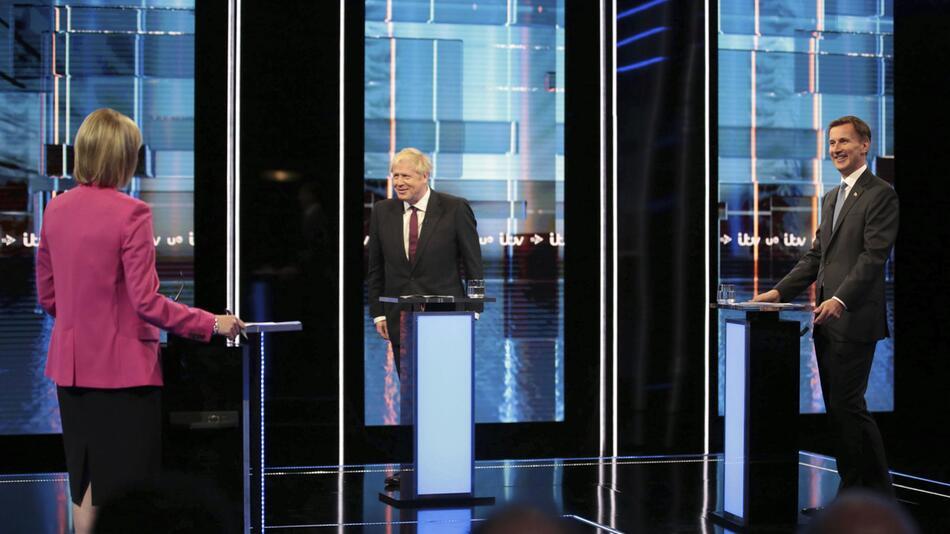 Fernseh-Debatte zwischen Johnson und Hunt