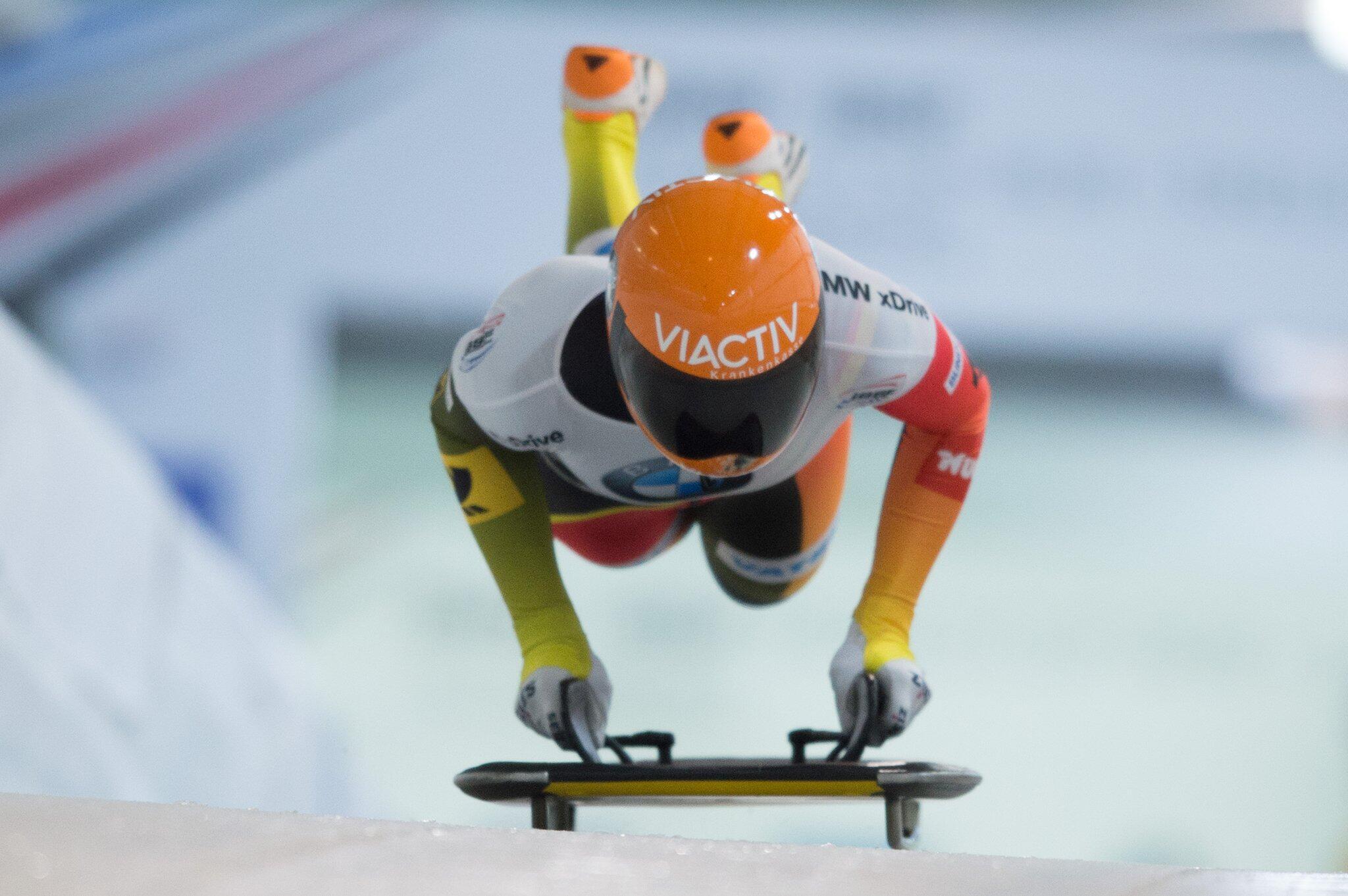 Olympia-Zweite Jacqueline Lölling Zweite beim Skeleton ...