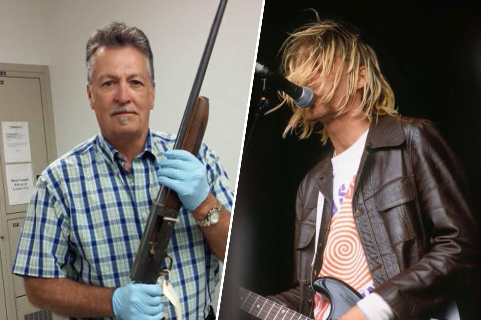 Bild zu Kurt Cobain: Polizei zeigt Selbstmord-Waffe