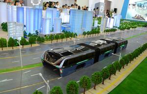 Bus Auto Stau China