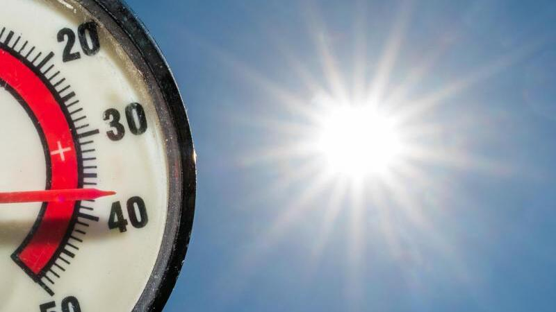 Therometer zeigt fast 40 Grad an