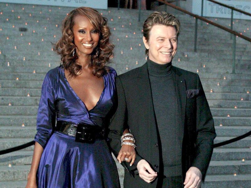 Bild zu David Bowie und seine Frau Iman