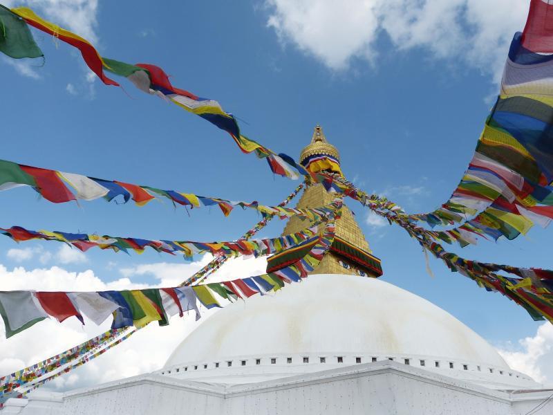 Bild zu Restaurierte Stupa von Bodnath