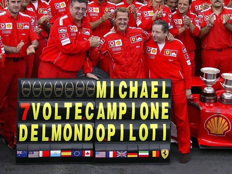 Bild zu Schumacher holte sieben WM-Titel