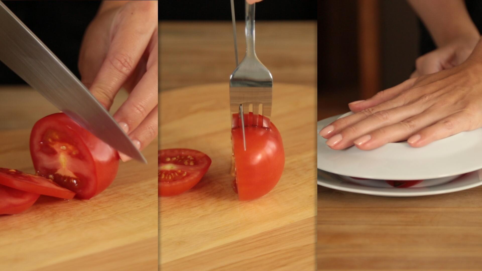 Bild zu Life Hack: Tomaten richtig schneiden