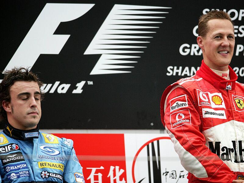Bild zu Alonson und Schumacher