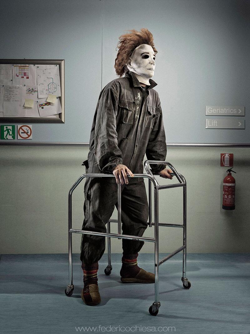 Bild zu Michael Myers mit Rollator