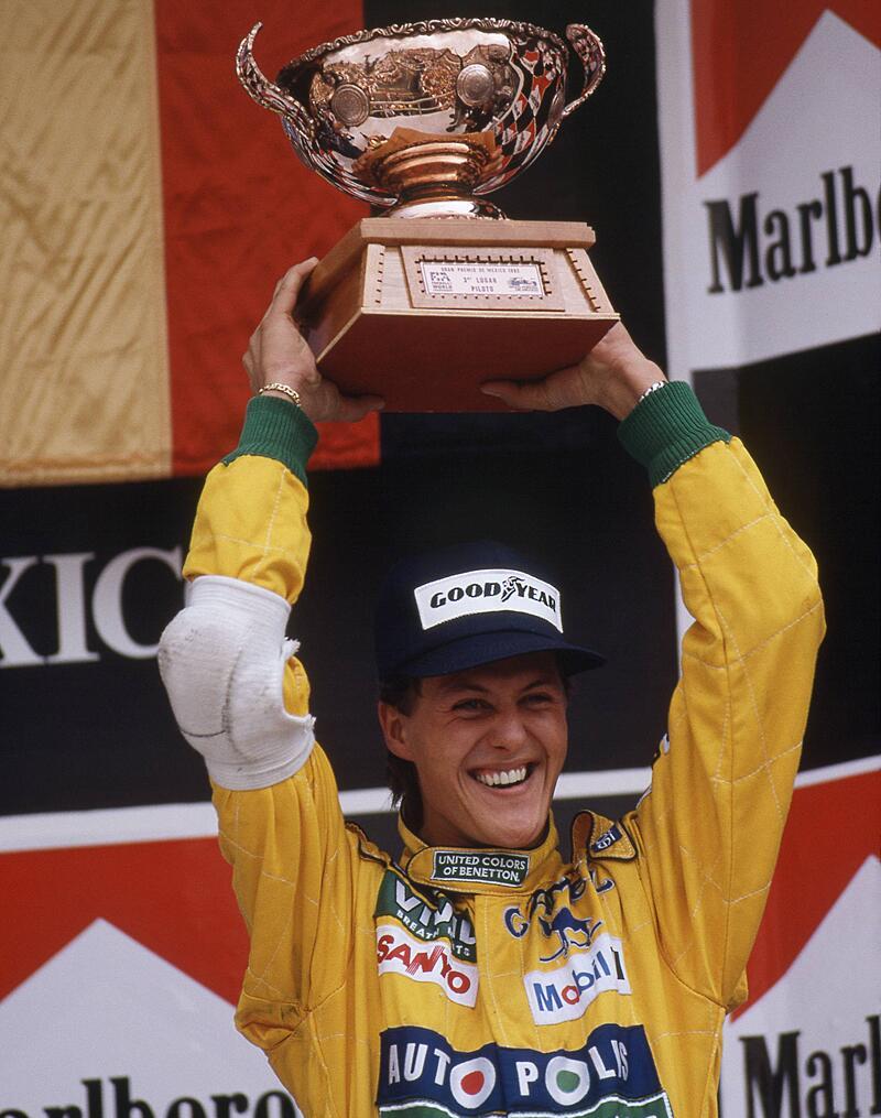 Bild zu Michael Schumachers erster Podestplatz