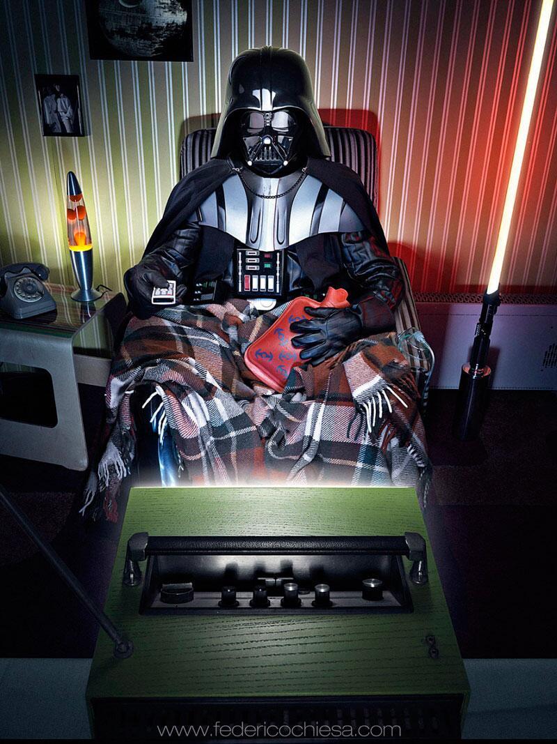 Bild zu Darth Vader mit Wärmflasche