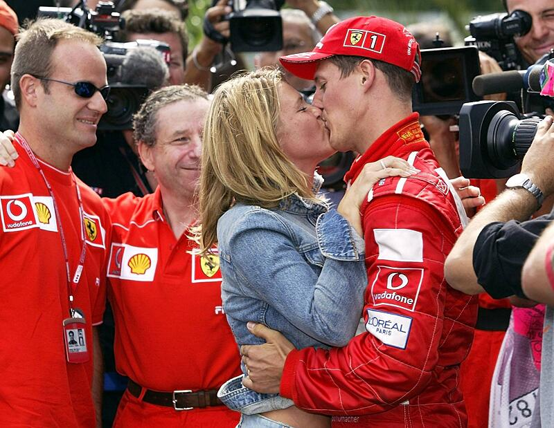 Bild zu Michael Schumacher und seine Frau Corinna