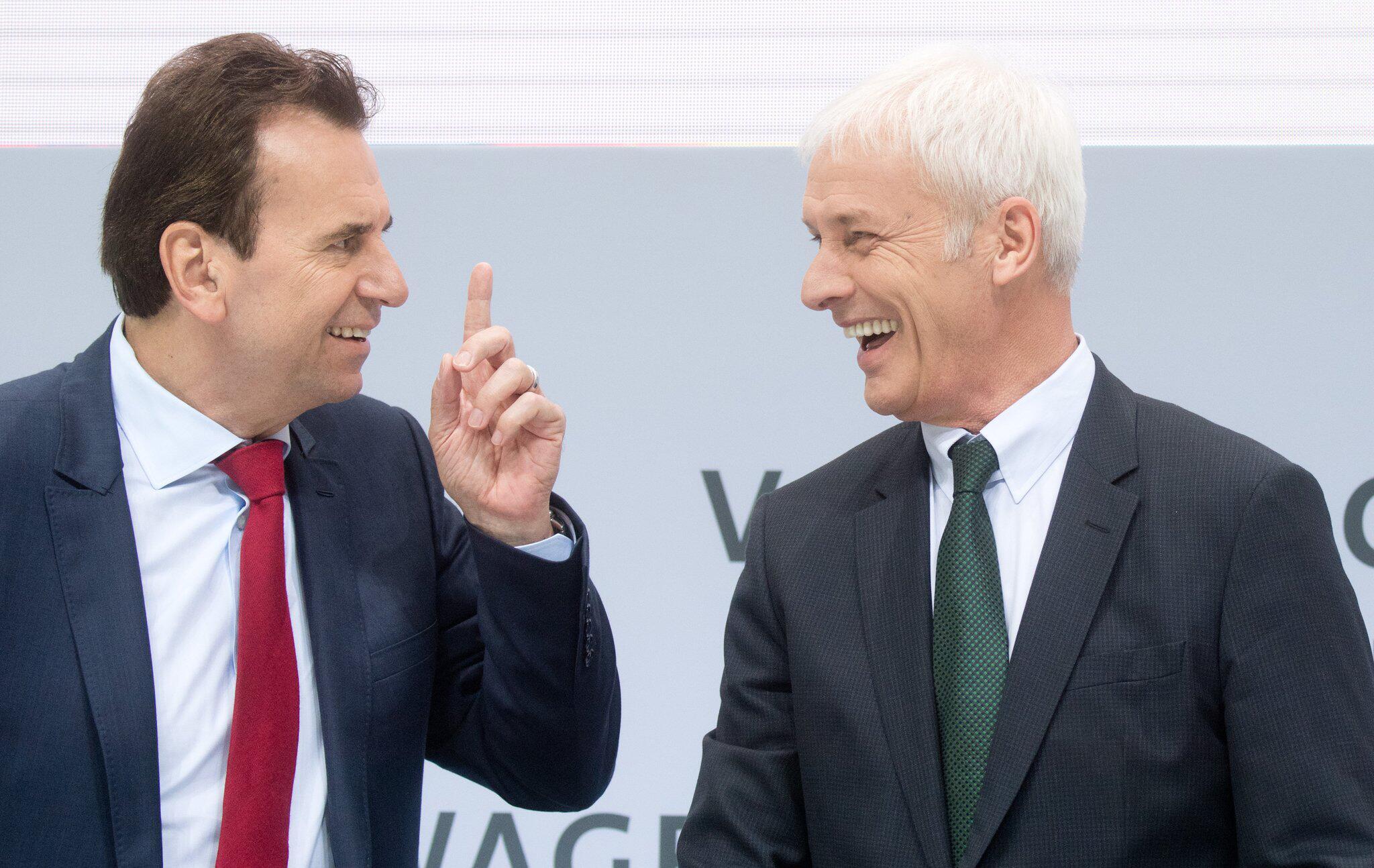 Bild zu VW Jahrespressekonferenz - Blessing und Müller