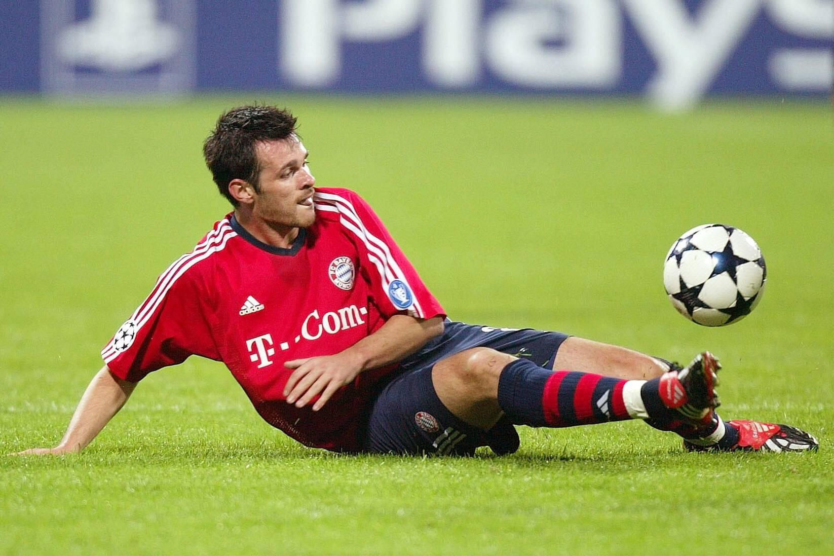 Bild zu Willy Sagnol, FC Bayern München, Champions League, Olympiastadion, 2003/04