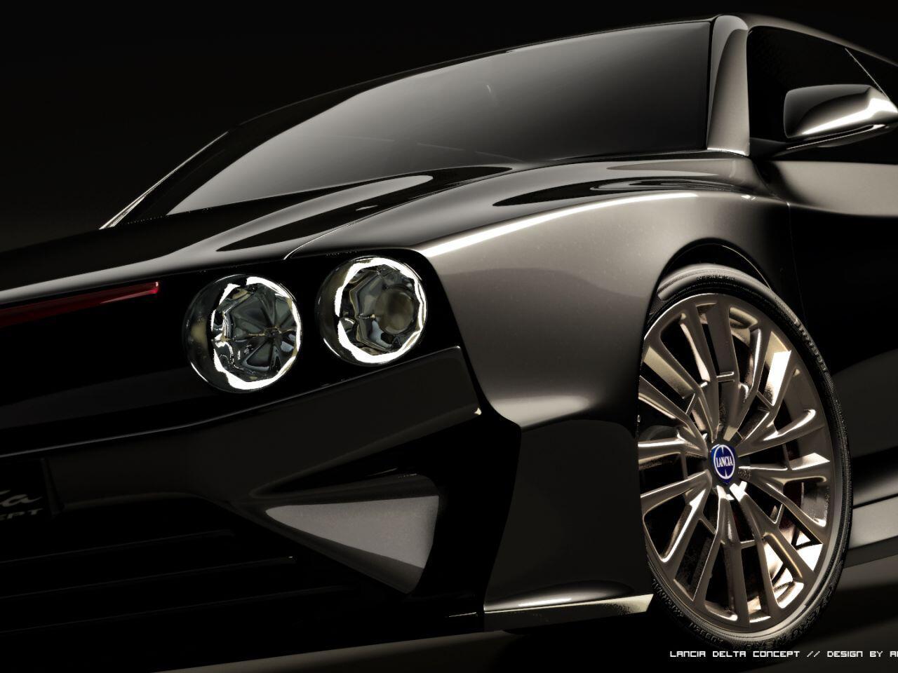 Bild zu Die Front des Lancia Delta Integrale ist markant wie eh und je