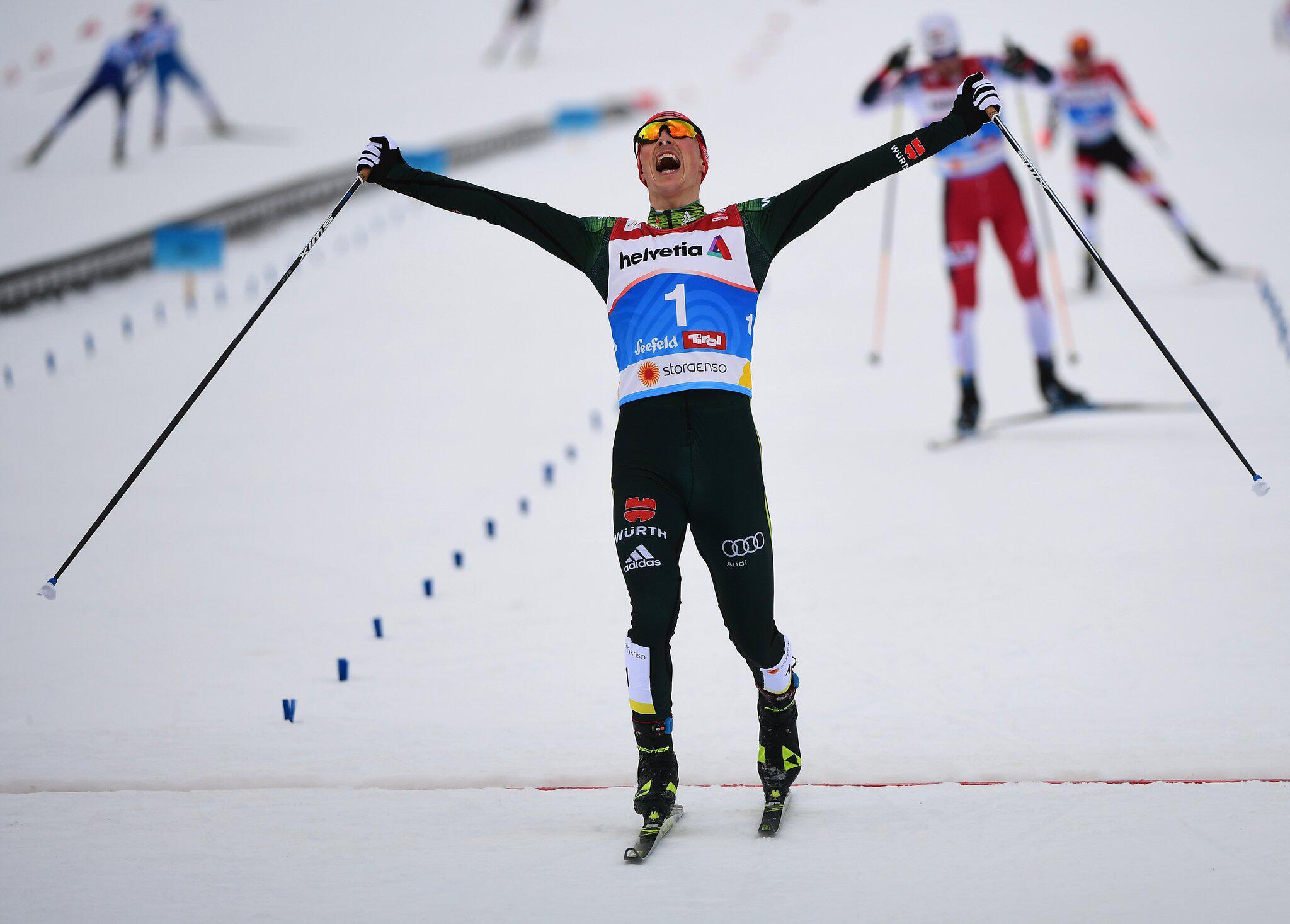 Bild zu Nordische Ski-WM, Ski-WM, Seefeld, Eric Frenzel, Nordische Kombination