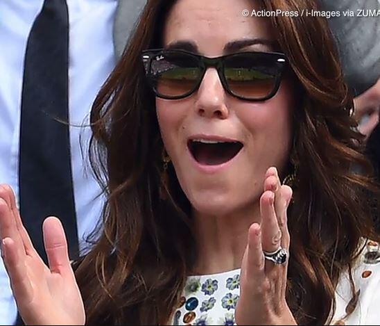 Bild zu Gesichtsentgleisung: Herzogin Kate völlig außer Rand und Band!