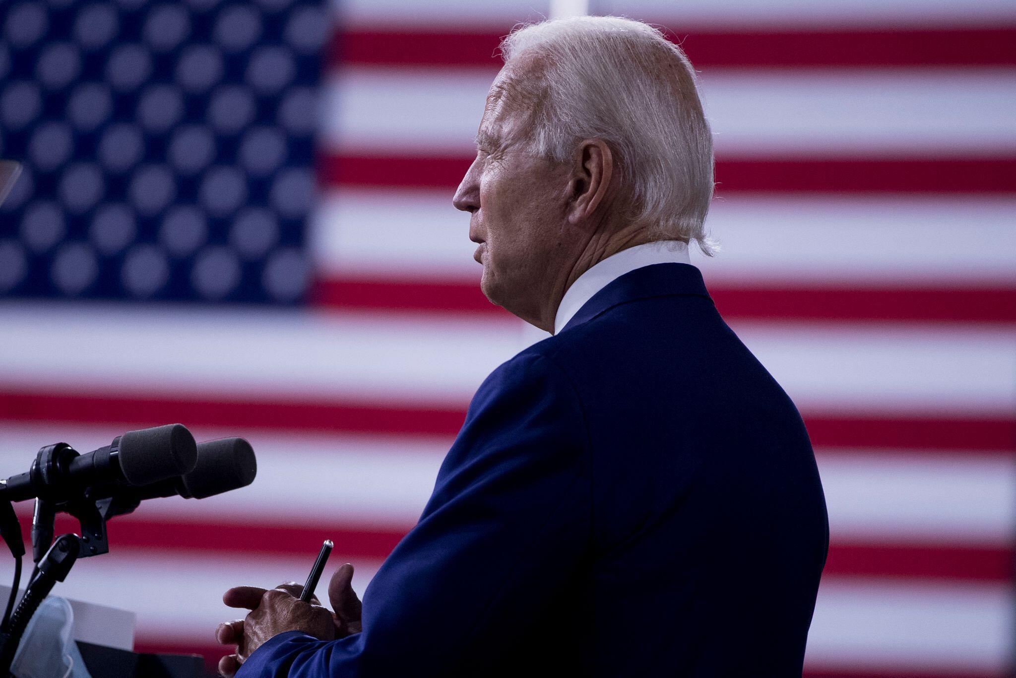 "Bild zu Joe Biden bei Kampagne ""Build Back Better"""