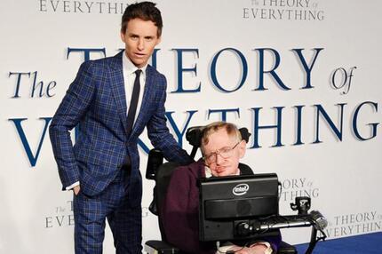 Eddie Redmayne und Stephen Hawking