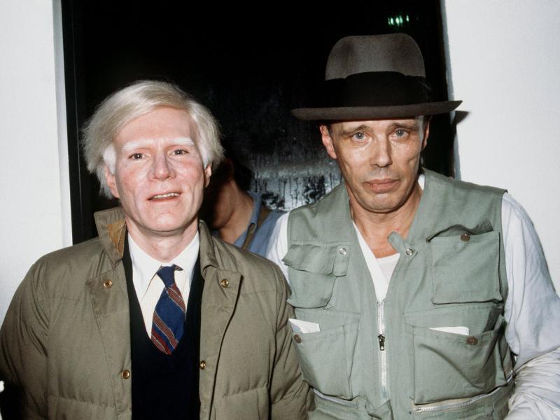 Bild zu Joseph Beuys und Andy Warhol