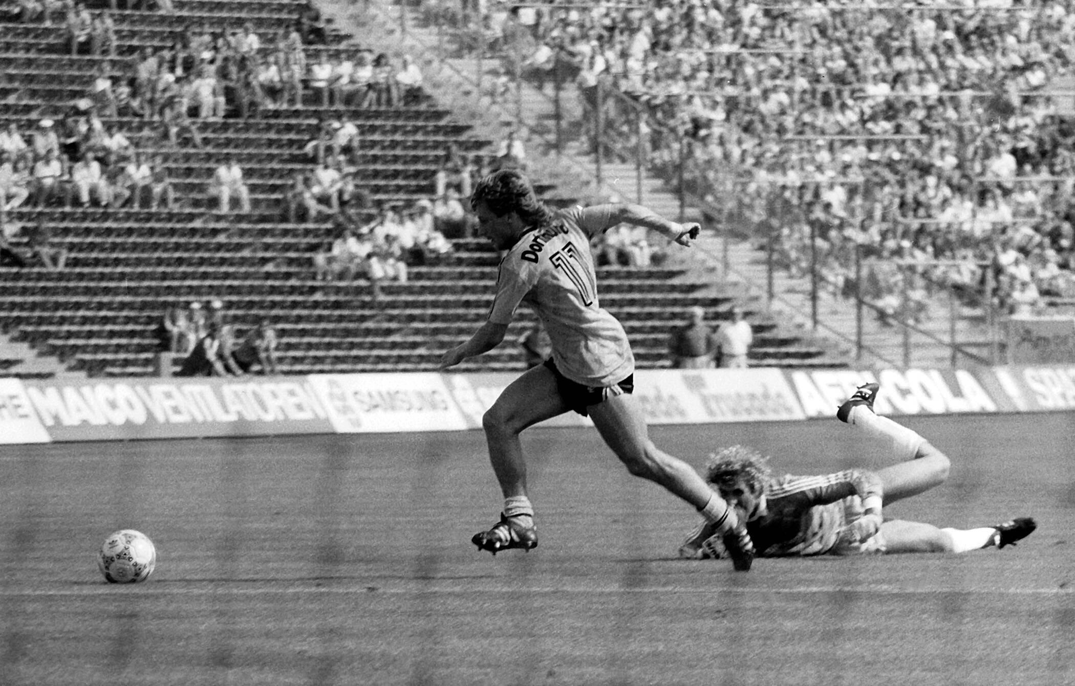 Bild zu Frank Mill, BVB, FC Bayern, 1986