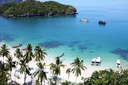 Inseln im Golf von Thailand