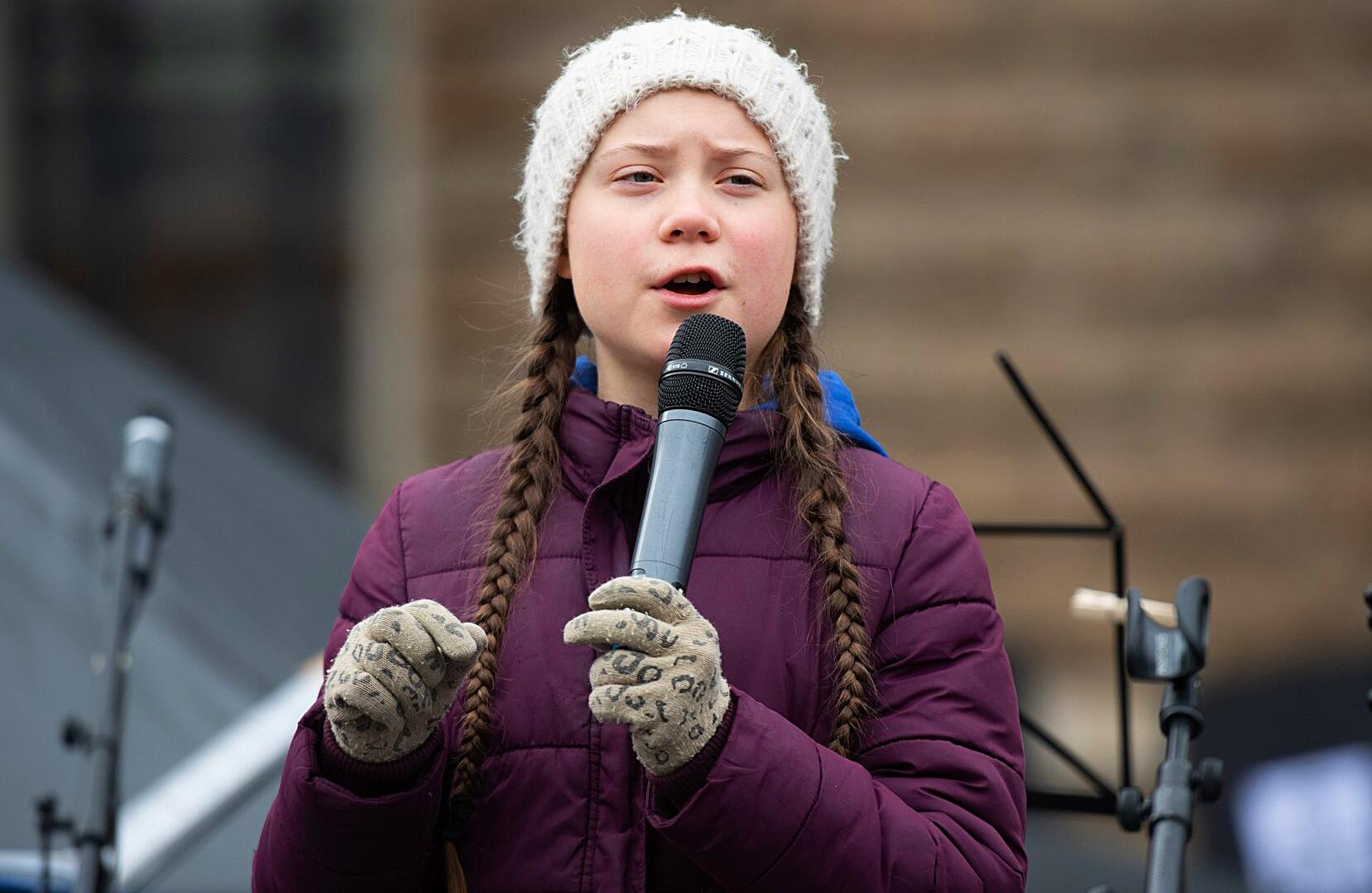 Bild zu Greta Thunberg, Hamburg, Protest, Demonstration, Klimaschutz, Schülerin