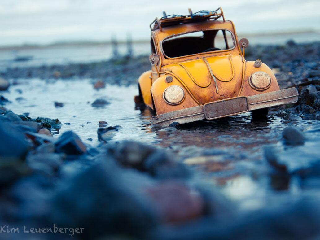 Bild zu VW-Käfer im Matsch gestrandet