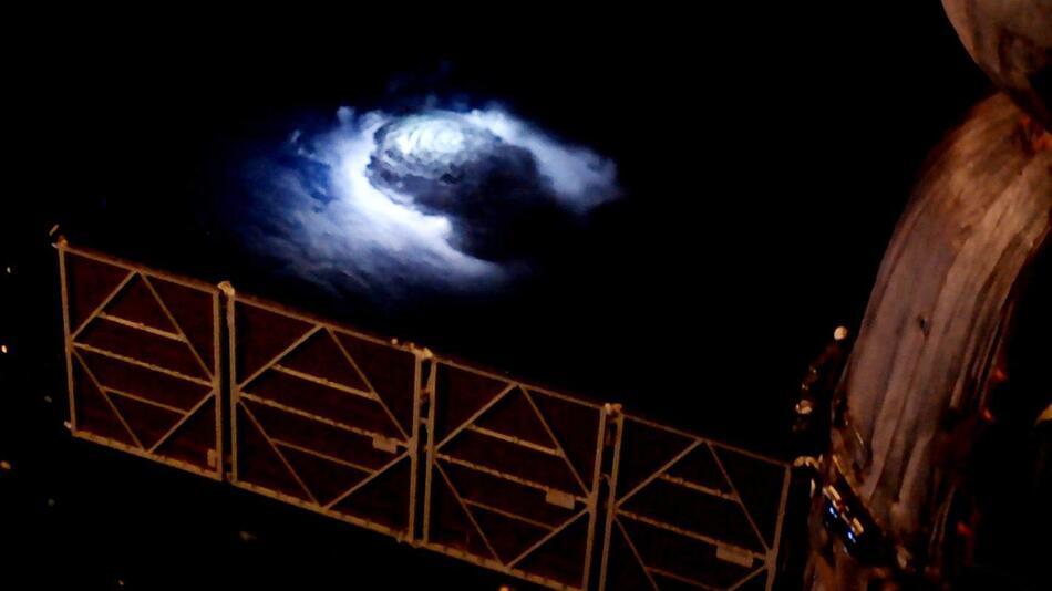 Gewittersturm, von der ISS aus aufgenommen