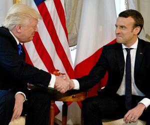 Treffen Trump - Macron