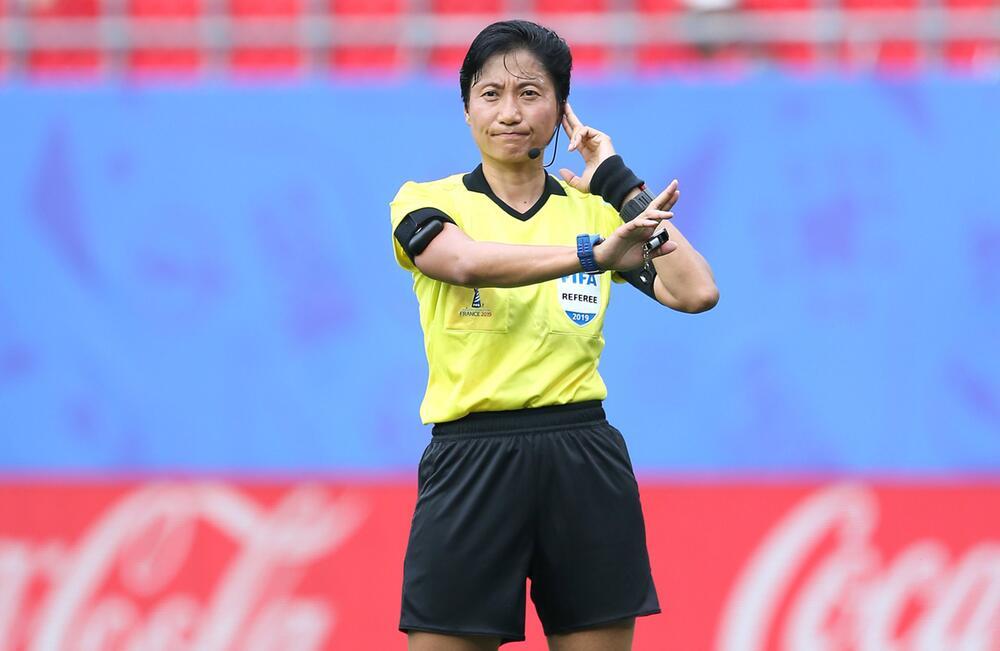 Frauenfußball-WM, Frauen-WM 2019, Achtelfinale, Valencinnes, Frankreich, England, Kamerun, Liang Qin