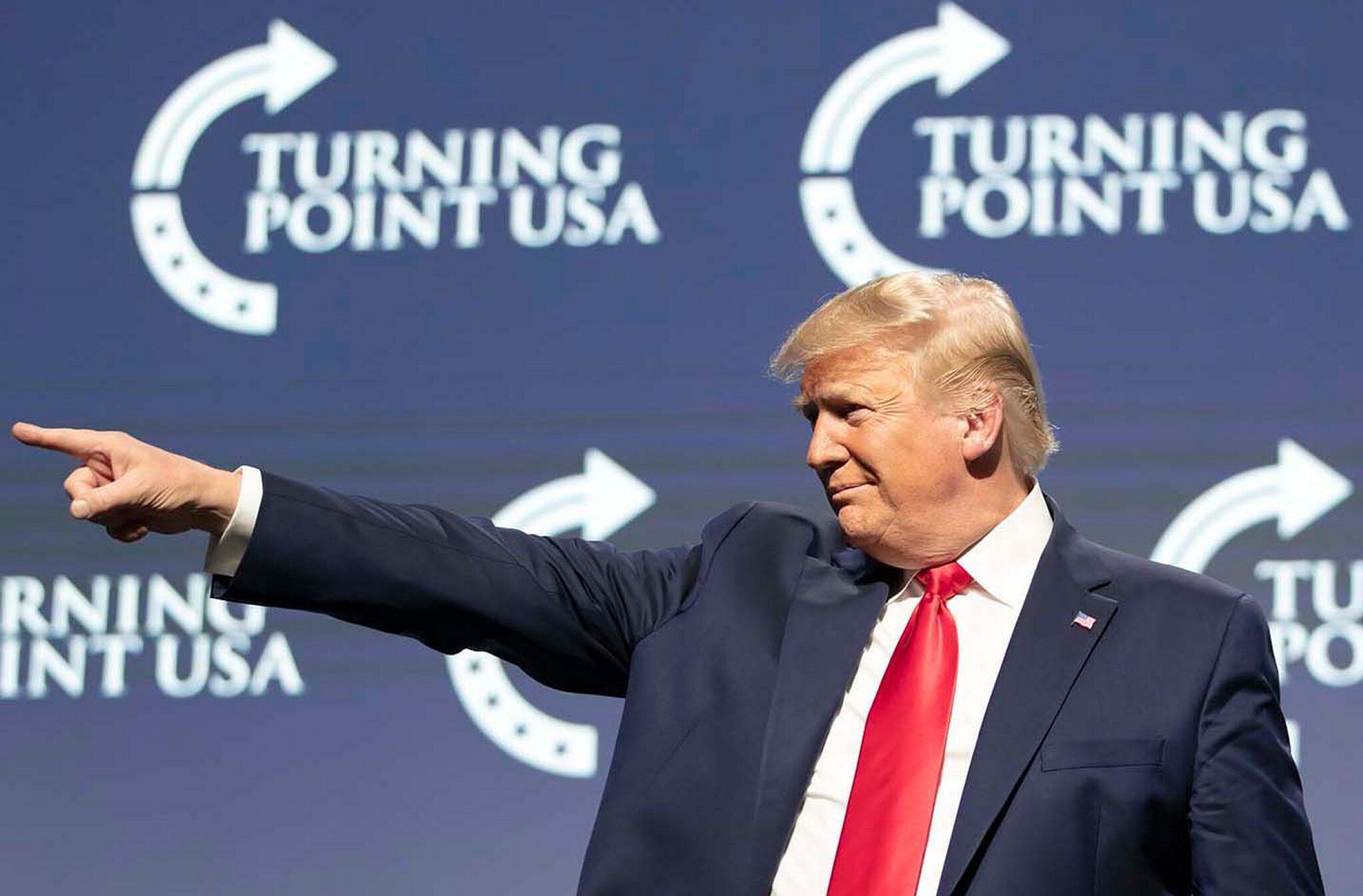 Bild zu US-Präsident Trump bei Student Action Summit