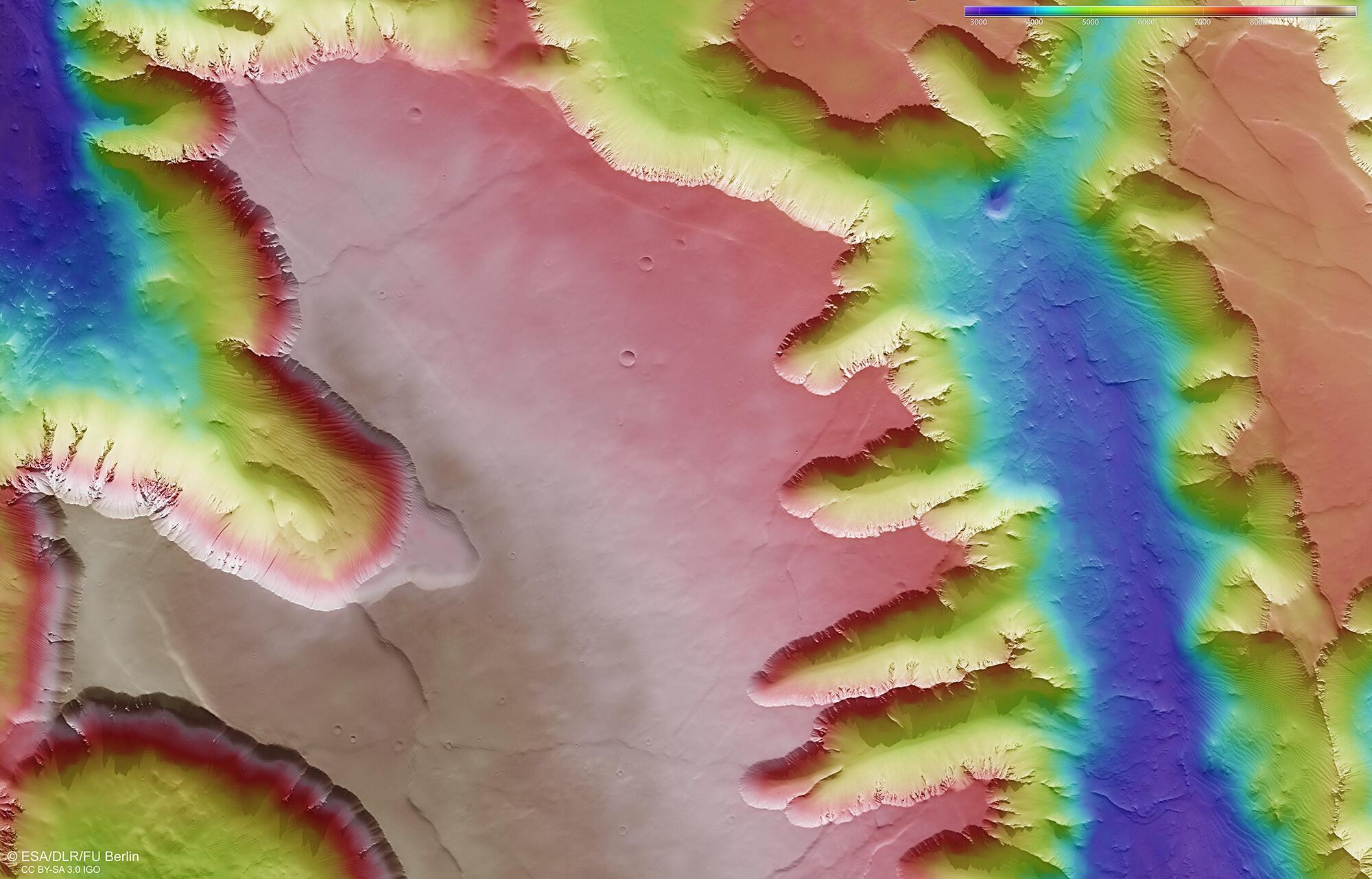 Bild zu Noctis Labyrinthus Region des Mars