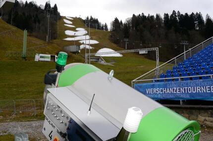 Schneemangel in Garmisch