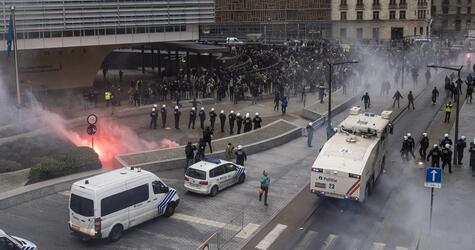 Gewalt nach rechter Demonstration in Brüssel