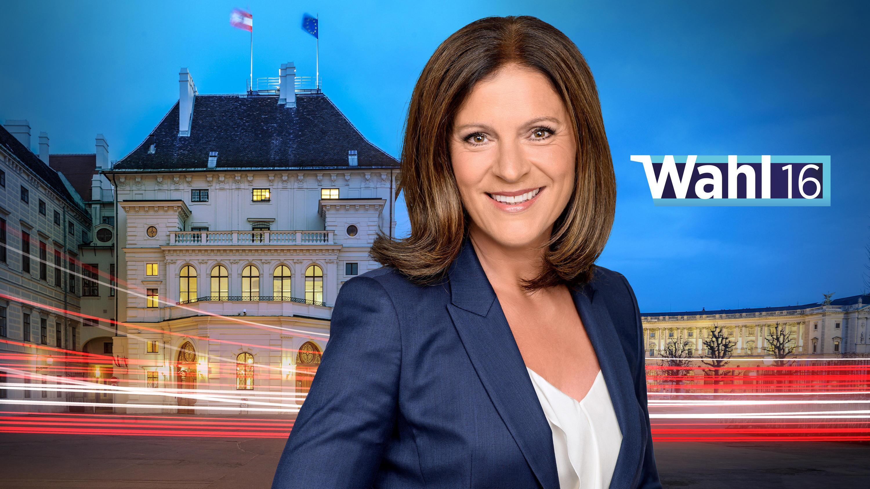 """Bild zu Ingrid Thurnher, Wahl 16, Elefantenrunde, """"Runde der Kandidaten zur Bundespräsidentenwahl"""", ORF"""