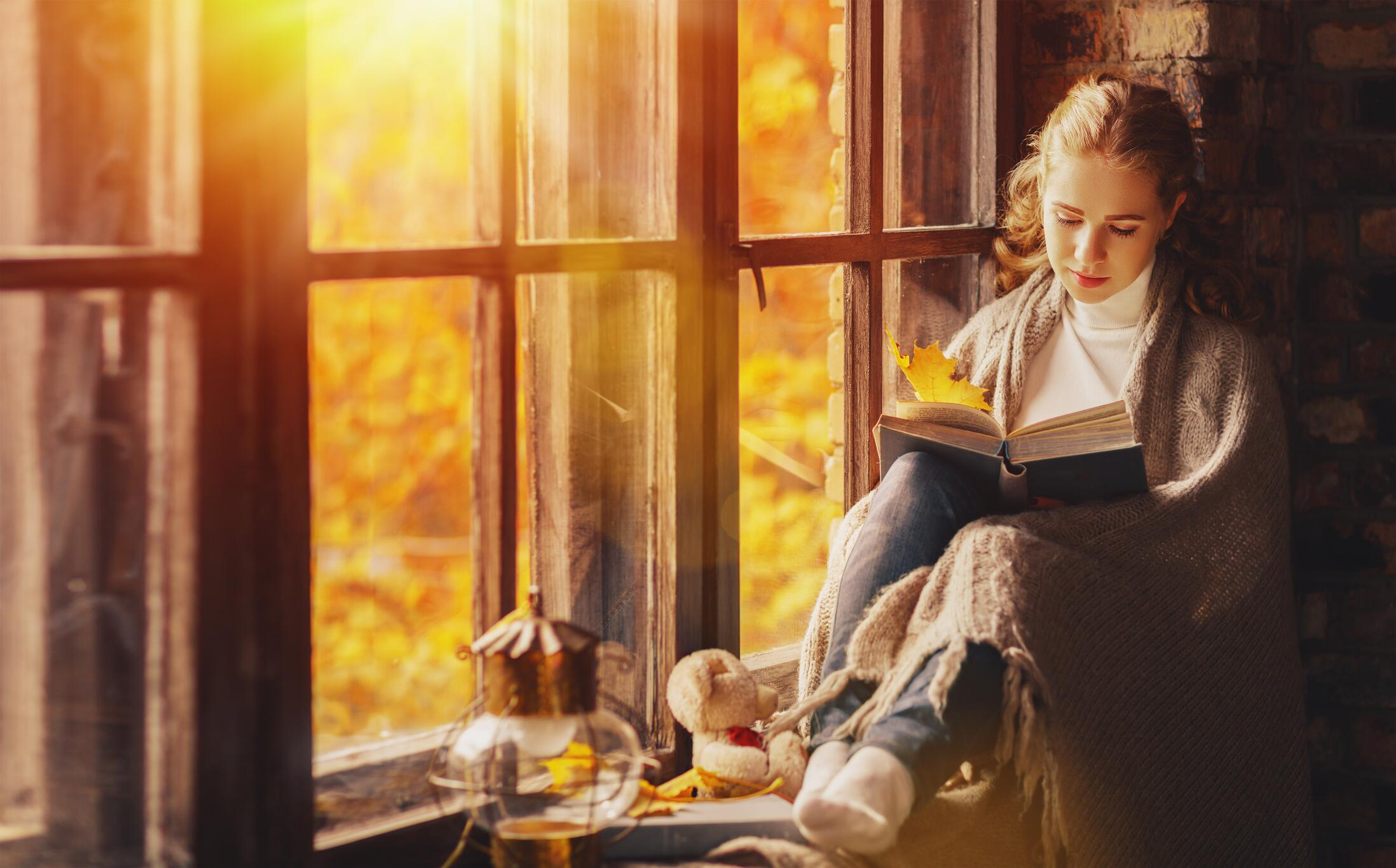 Bild zu Herbst, Herbstabend, Buch, lesen, Buchmesse, Frankfurt, 2019, Literatur, Roman, Krimi