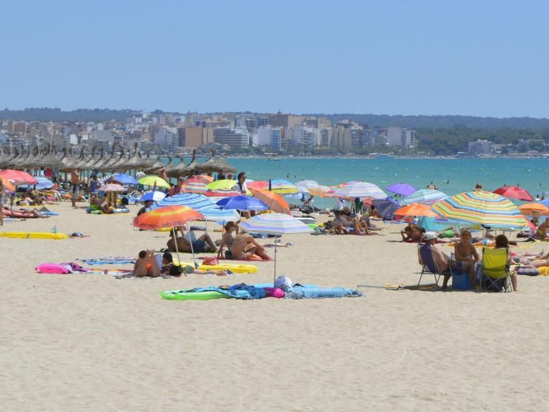 Bild zu Am Strand der Baleareninsel