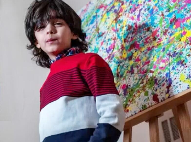 Bild zu Mikail Akar, das malende 7-Jährige Wunderkind aus Köln.