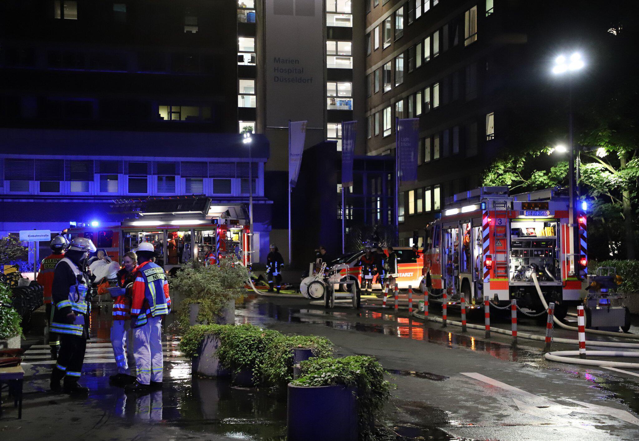 Bild zu Brand im Marien Hospital Düsseldorf