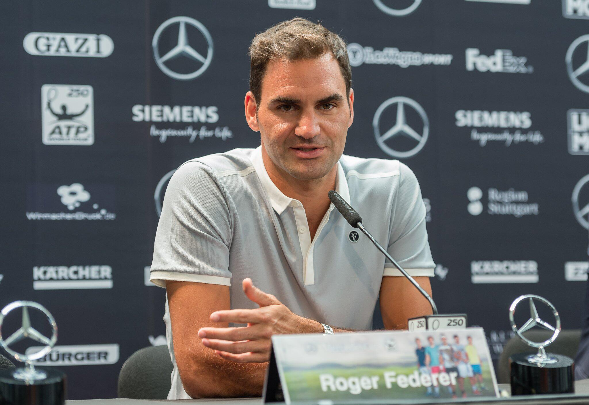 Bild zu Roger Federer, Pressekonferenz, ATP Mercedes Cup, Stuttgart