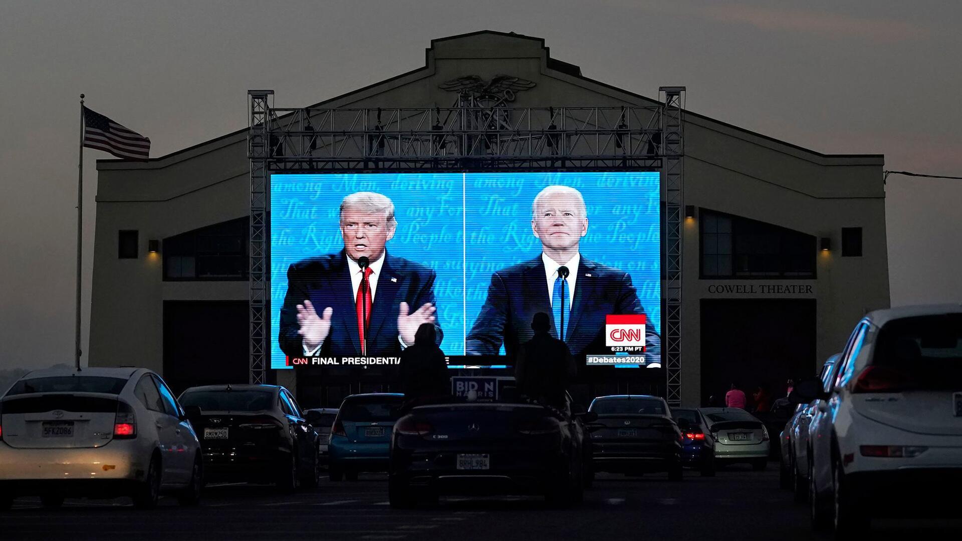 Bild zu Letztes TV-Duell zwischen Trump und Biden